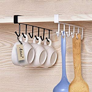 Sweepstakes: Alliebe 2pcs Mug Cups Wine Glasses Storage Hooks Kitchen…
