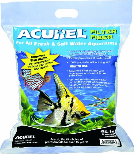 14 Oz Aquarium Filter - Acurel LLC 100-Percent Polyester Filter Fiber, 14-Ounce
