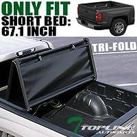 Topline Autopart Tri Tri-Fold Fold Soft Truck Bed Topper...