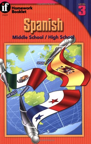 Spanish Homework Booklet, Middle School / High School, Level 3 (Homework Booklets) (Spanish and English Edition)