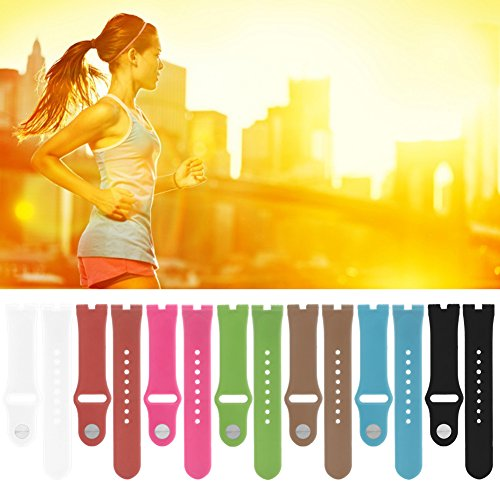 SCASTOE 22mm Elegant Silicone Rubber Watch Strap Band For Motorola Moto 360 Smart Watch Hot Pink