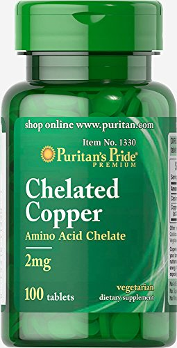 Puritans Pride Copper Chelate 2 Mg Tablets, 100 Count Review