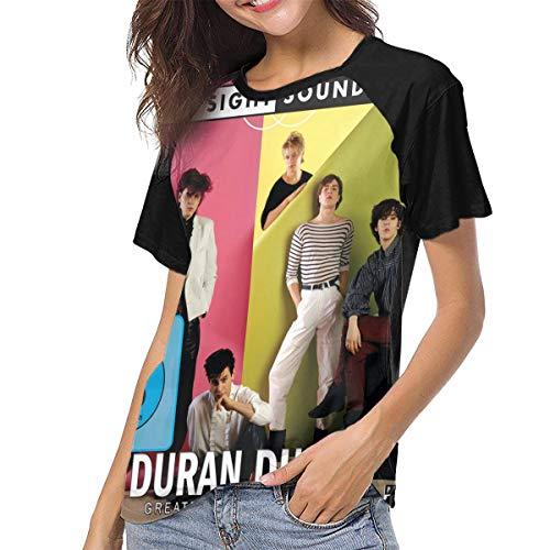 (RodneyLRobbins Duran Duran Greatest Women Soft Baseball Short Sleeves T Shirt Raglan Sleeve Shirts M Black)