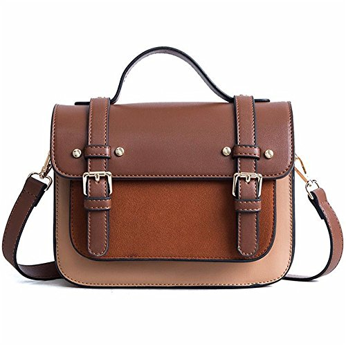 Color Simple Shoulder Hit Retro Magnetic Button Messenger Leisure Khaki Bag Square Pu Bag wwR6q