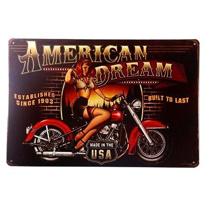 Amazon Com Lady Luck Casino Retro Metal Tin Sign Homewares
