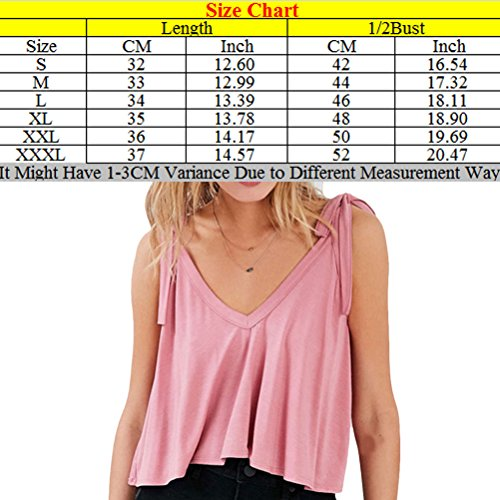 Zhhlinyuan Casual Ropa Popular Womens Bowknot V Neck Backing Vest College Style Tops for Summer Black