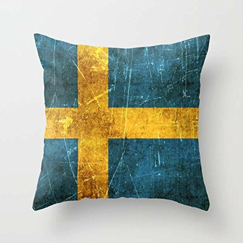 Flag Throw Cushion Covers 20 X 20 Inches / 50 By 50 Cm Best Choice For Kids Room Home Theater Bedding Car Bench Home With Double Sides (Table Topic Ideas For Halloween)