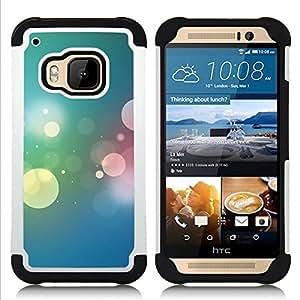- Bokeh Colors/ H??brido 3in1 Deluxe Impreso duro Soft Alto Impacto caja de la armadura Defender - SHIMIN CAO - For HTC ONE M9