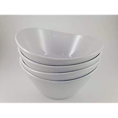 Over & Back 4-Piece 'What a Dish' Porcelain Bowl Set, White