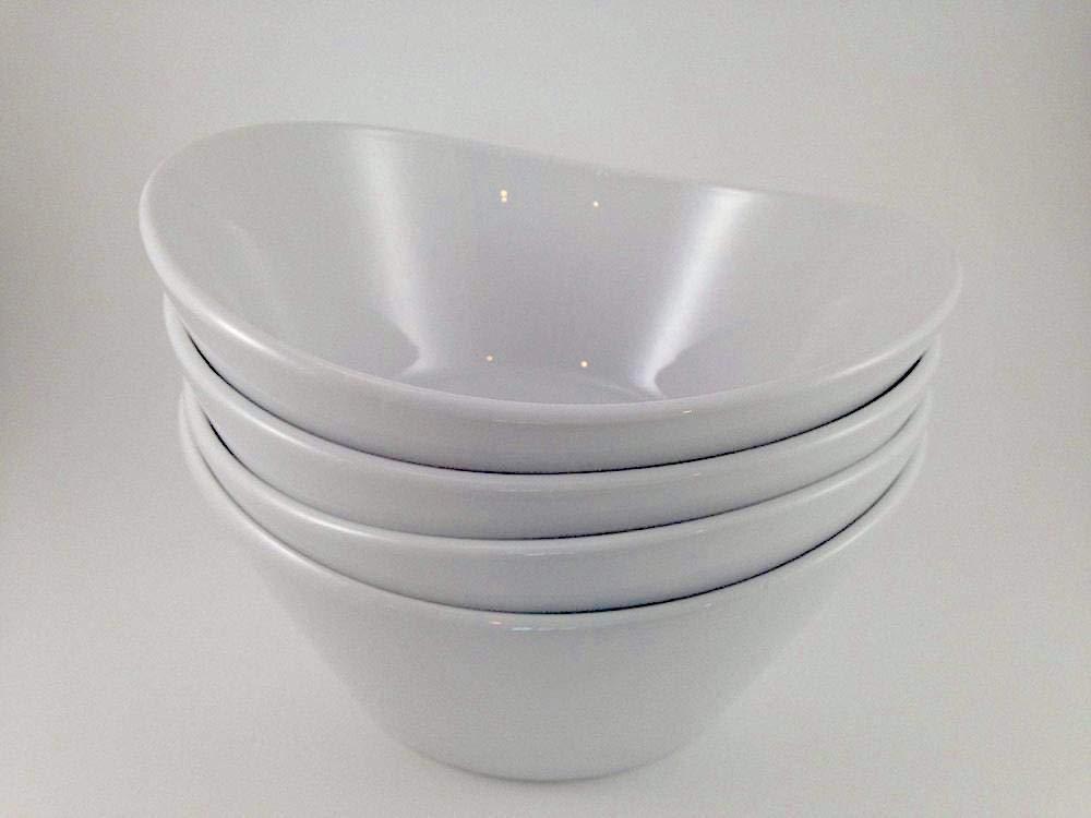 White INC. American Metalcraft MELSQ53 Endurance Melamine 5 Square Bowl 23-Ounce
