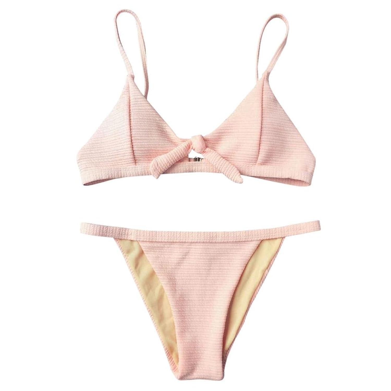 7c209a4a6c30c Kanpola Bikini Damen Set Damen Zweiteiler Neckholder Bikini Push ...