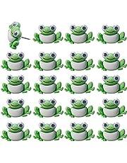 FoyaHome 20 Pcs Cartoon Frog Push Pin Animal Decoration Paper Photo Memo Note Thumbtack Drawing Pins Green Multi-Functional Decorative Cork Board Office Accessories