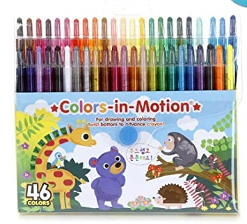 Amazon.com: Twistables Color In Motion Crayons 46/pkg made in Korea ...