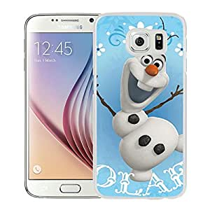 New Unique Custom Designed Case With OLAF Snowman White For Samsung Galaxy S6 Phone Case
