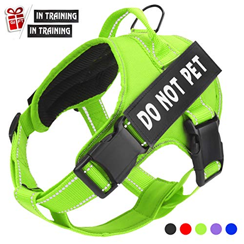 Dog Training Vest - Bolux in Training Dog Harness, DO NOT PET Harness Adjustable Outdoor Service Dog Vest Harness - 3M Reflective Pet Halters for Small Medium and Large Dogs