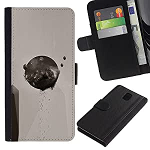 All Phone Most Case / Oferta Especial Cáscara Funda de cuero Monedero Cubierta de proteccion Caso / Wallet Case for Samsung Galaxy Note 3 III // Abstract Round