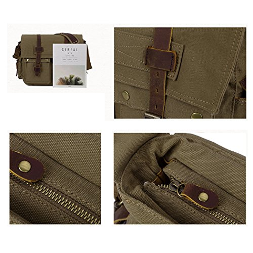 Briefcase Classic Men fbb08 YUHUA QISHI armygreen 4 1 hyq Canvas Grey Retro EqOXw5w1