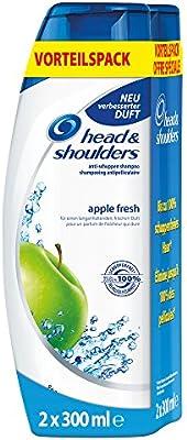 Head & Shoulders Manzana Fresh Champú Anticaspa Duopack (2x300ml), 6-pack (6 x 600 ml): Amazon.es: Belleza