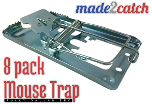made2catch Classic Metal Mouse Trap Fully Galvanized - 8 pac