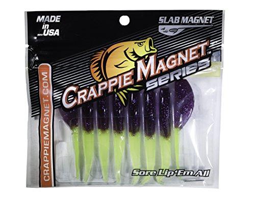 Crappie Magnet 8-Piece Slab Magnet Grub Body Pack, Therapist