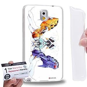Case88 [Samsung Galaxy Note 3] Gel TPU Carcasa/Funda & Tarjeta de garantía - Digimon Adventure Omnimon MetalGarurumon WarGreymon 0936
