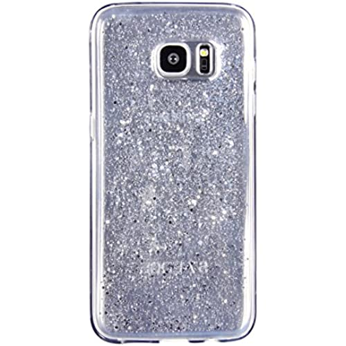 Samsung Galaxy S7 edge Case, FLYEE Transparent Glitter Luxury Bling Sparkle Soft TPU Scratch Resistant Bumper for 5.5 Inch S7 edge Cell Phone Cover -White Sales