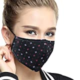Unisex N95 Anti Dust Face Mask Cover Respirator Mask Cotton Mouth Mask Fashion Reusable for Men Women Black Red