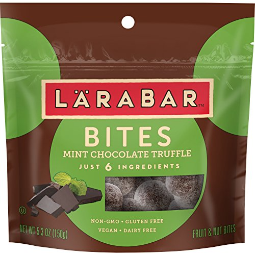 Mint Truffle Bar - Larabar Bites, Gluten Free, Mint Chocolate Truffle Pouch, 5.3 oz (Pack of 6)