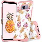 Galaxy S8 Plus Pineapple Case Samsung S8+ Plus Case YINLAI Shockproof Hybrid Silicone Rubber Bumper Hard PC Cover Cute Floral Pineapple Pattern Phone Cases for Girls Samsung Galaxy S8 Plus Rose Gold