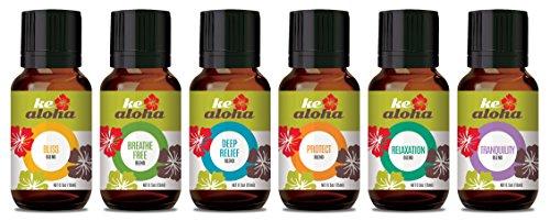 Ke Aloha Best Blends Essential Oil Bundle Kit - Bliss Ble...