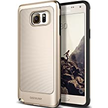 Galaxy Note 5 Case, Caseology [Vault Series] Metallic Mesh Slim Bodyguard [Gold] [Hybrid Armor] for Samsung Galaxy Note 5