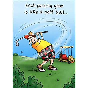 Amazon Happy Birthday Golf Greeting Card Second Nature Yours