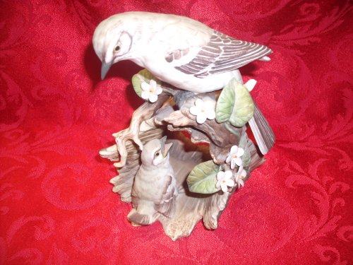 Homco Masterpiece Porcelain Mother and Baby Bird Figurine