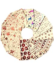 Seacity 24PCS 5x7 Inches Christmas Drawstring Burlap Gift Bags,Favors Gift Candy Jewelry Pouches Bags for Wedding Party Birthday New Year Holiday
