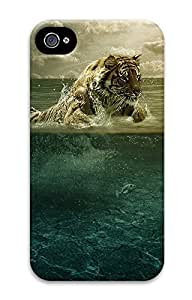 iPhone 4 4S Case Tiger jumping in water 3D Custom iPhone 4 4S Case Cover