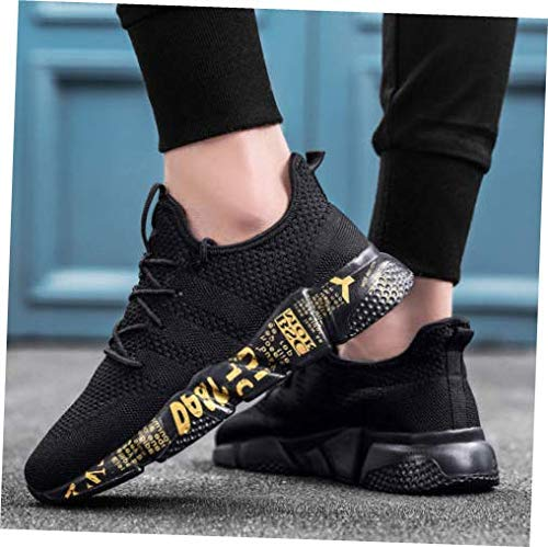 Shoes Black Size 9.5 Men Sport Trail Running Shoes Athletic Sneakers Mesh Breathable Tennis Sneakers