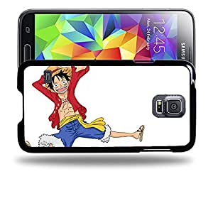 Case88 Designs One Piece Luffy Protective Snap-on Hard Back Case Cover for Samsung Galaxy S5