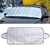 "NUOMI Car Windshield Snow Cover for Ice Protection Truck/SUV, Sunshade Protector, Frost Guard, Door Flaps Windproof Universal Fit, 78.7""x27.5"""