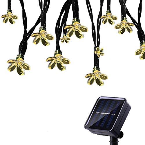 Tuokay, Tuinverlichting op Zonne-energie, Kerstverlichting Buiten met bloemen, Waterdichte 7m 50 LED 8 Modi, Decoratieve…