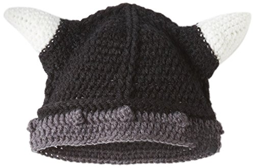 - Kafeimali Men's Barbarian Vagabond Knit Hat Halloween Viking Horns Bearded Caps