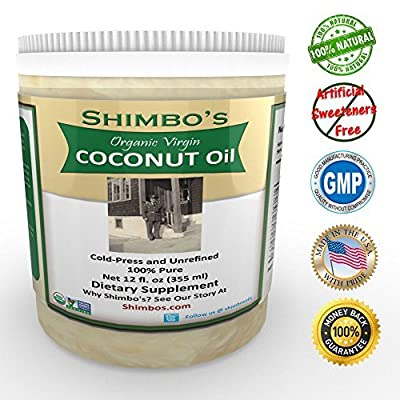 Shimbo's Organic Coconut Oil-High in MCT Oil-Great For Bulletproof Coffee from Physique Formula