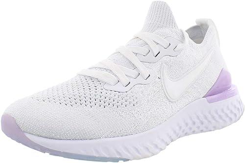 episodio Relativo Fruncir el ceño  Amazon.com: Nike Women's Epic React Flyknit 2 Running Shoe (8.5,  White/Pink/Black): Shoes
