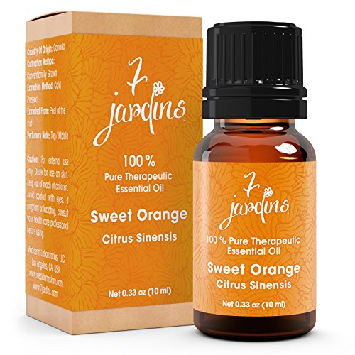 Orange Blossom Citrus Perfume (Premium Sweet Orange 100% Pure & Natural Therapeutic Grade Essential Oil. 10 ml - Anti Depressant, Anti Bacterial, Anti-Inflammatory - Boosts Immunity, Enhances Skin and Beauty- By 7)