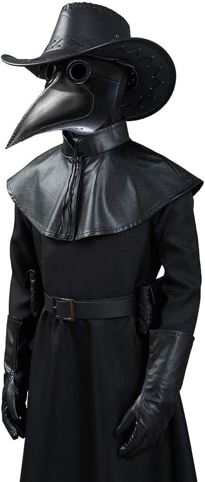 Halloween Silver Bird Skull Hair Tie Plague Doctor Crow Raven Cool Elastic X3