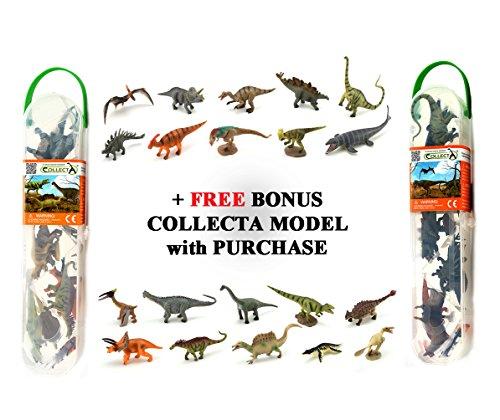 CollectA Mini Dinosaurs Set 1 & Set 2 - 20 pc. + Bonus Dinosaur 21 pieces Total