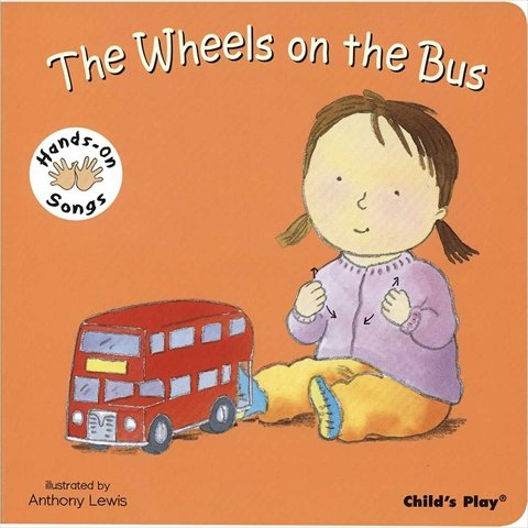 Harris Communications B1271 Hands-On Songs - The Wheels on the Bus Board Book