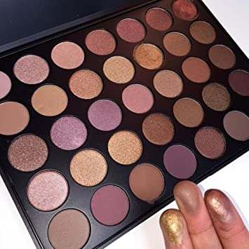 GLITZ COSMETICS 35T P3 Paleta de sombras de ojos de 35 colores con alta pigmentación, perfecta para San Valentín, recomendada por bloggers de belleza y ...