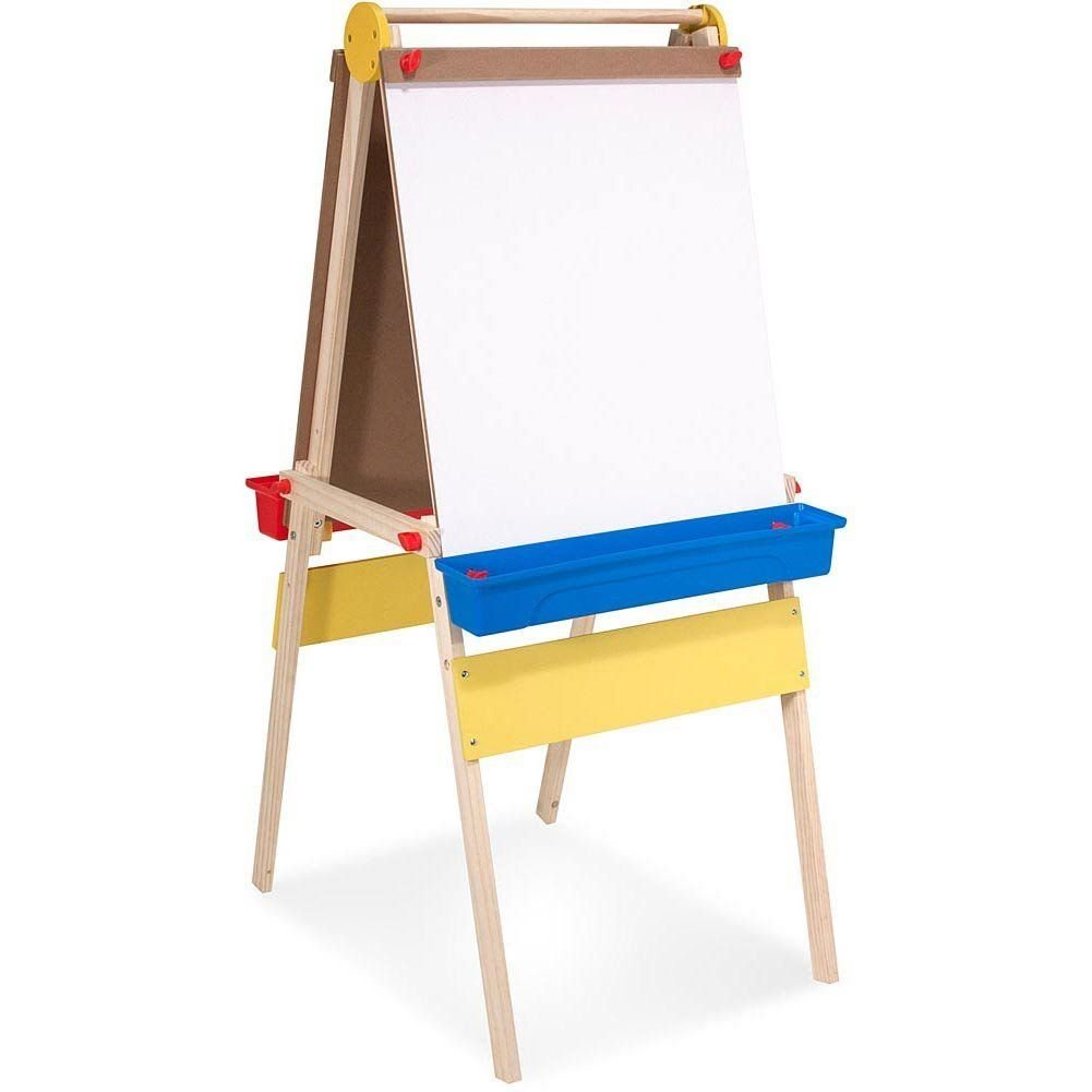Amazon.com: Deluxe Wooden Standing Art Easel by Melissa & Doug: Toys ...