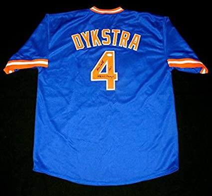 pretty nice 556aa 91068 Lenny Dykstra Autographed Jersey (new York Mets) W/Proof ...