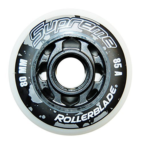 Rollerblade Supreme 80mm 85A Wheels White 80 mm by Rollerblade (Image #1)